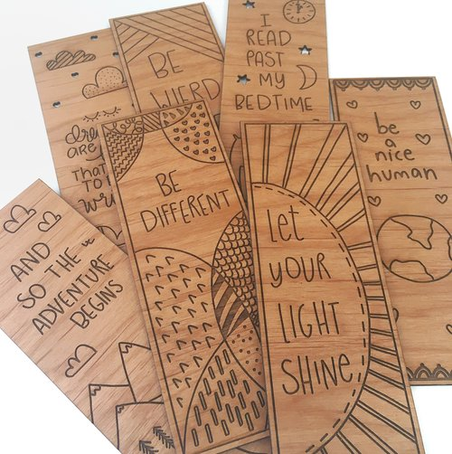 be different laser engraved wooden bookmark hello world paper co
