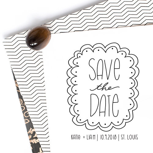 hand drawn save the date stamp hello world paper co stamps