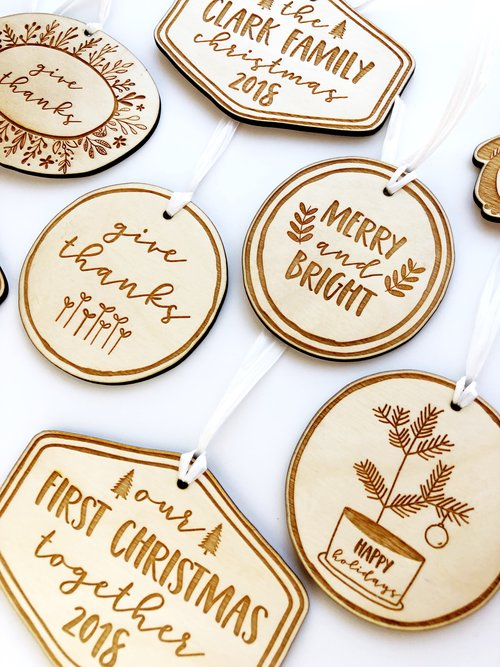 personalized family ornament hello world paper co stamps