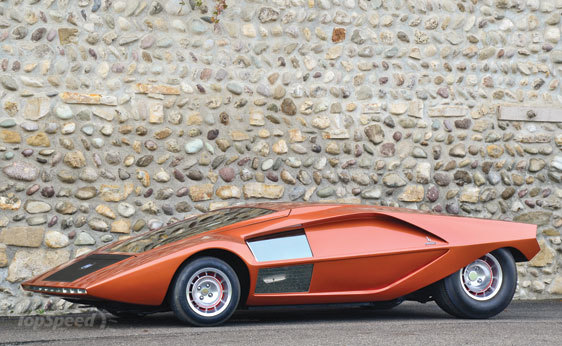 1 970 Lancia Stratos Zero                                                                                          Photo: Top Speed