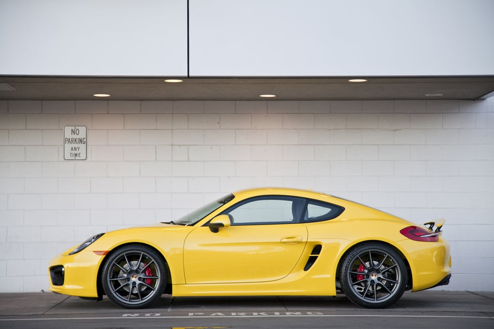 Yellow 911 Print
