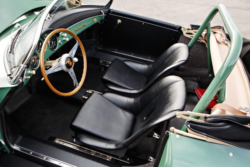 1958 Porsche 356 A 1500 GS/GT Carrera Speedster Interior Seinfeld Gooding and Co. Auction