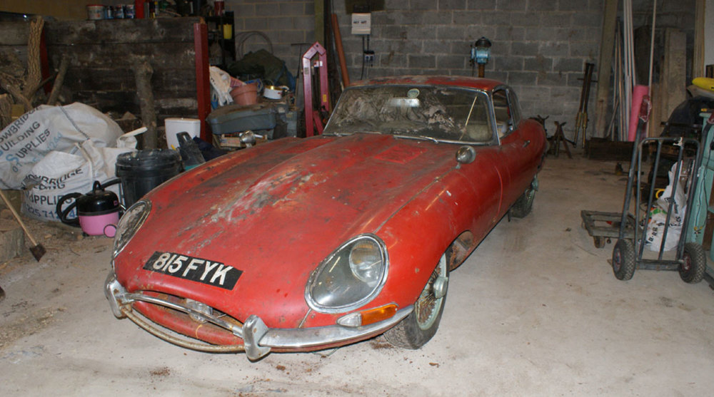 E Type Barn Find