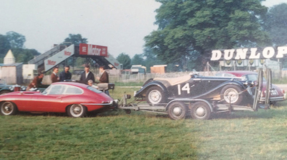 E-Type towing MG