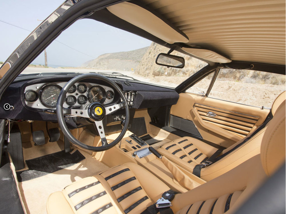 Restored Ferrari 365 GTB Interior