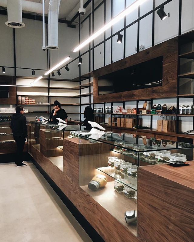 Throwback to the final touches phase of a successful project with @urbnleafca. It's always great to work with clients that value design and strive to offer a better retail experience for their customers. . . .  #dispensary #retaildesign #walnut #customdisplay #sandiegocannabis #boutiquedispensary #dispensarydesign #architecture #interiors