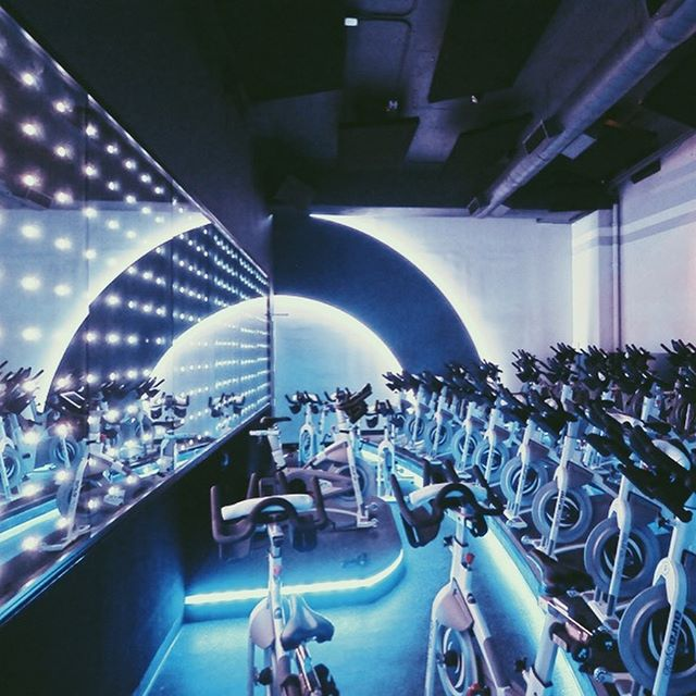 Our design for an indoor cycling studio in Los Angeles, inspired by color and light. Get those Monday morning creative juices flowing! 🚴🏼‍♀️ 💪🏻 . . . #fitness #fitnessdesign #auracycle #Cyclingstudio #indoorcycling #neon #interiorarchitecture #collaboration #interiors #led #Lightingdesign #movement #flow #light #mondaymotivation