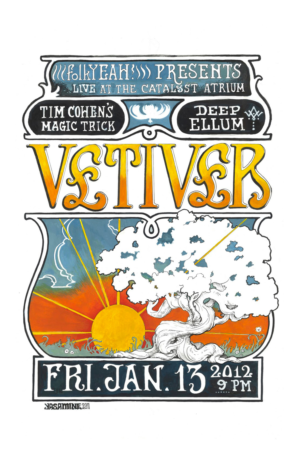 Concert Poster for Vetiver