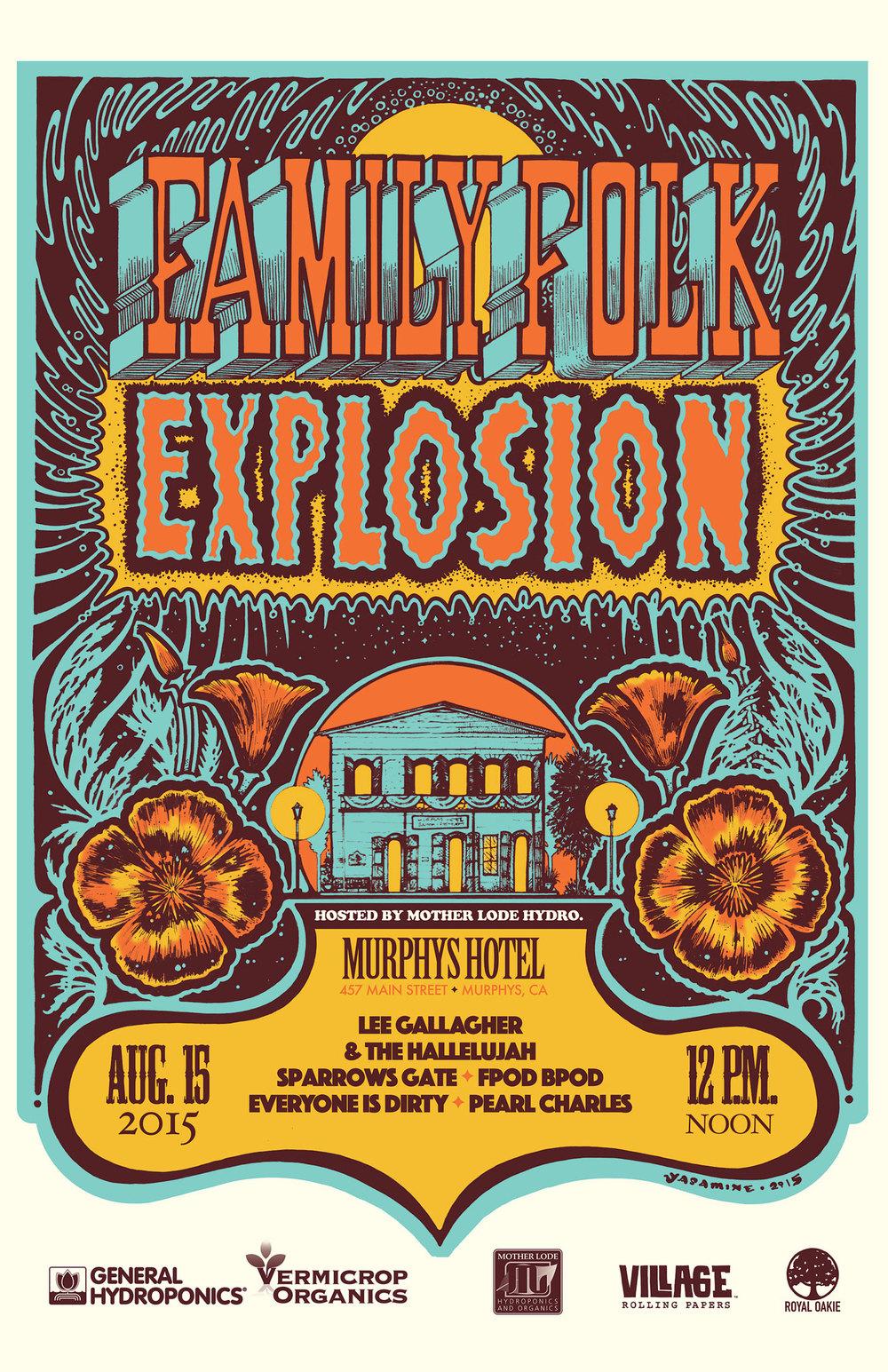 Festival Poster for Family Folk Explosion