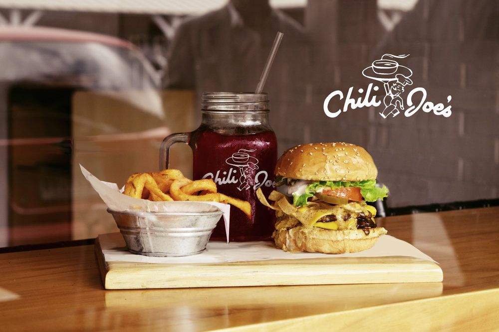 Unused Hand-Lettered Concept Logo for Chili Joe's