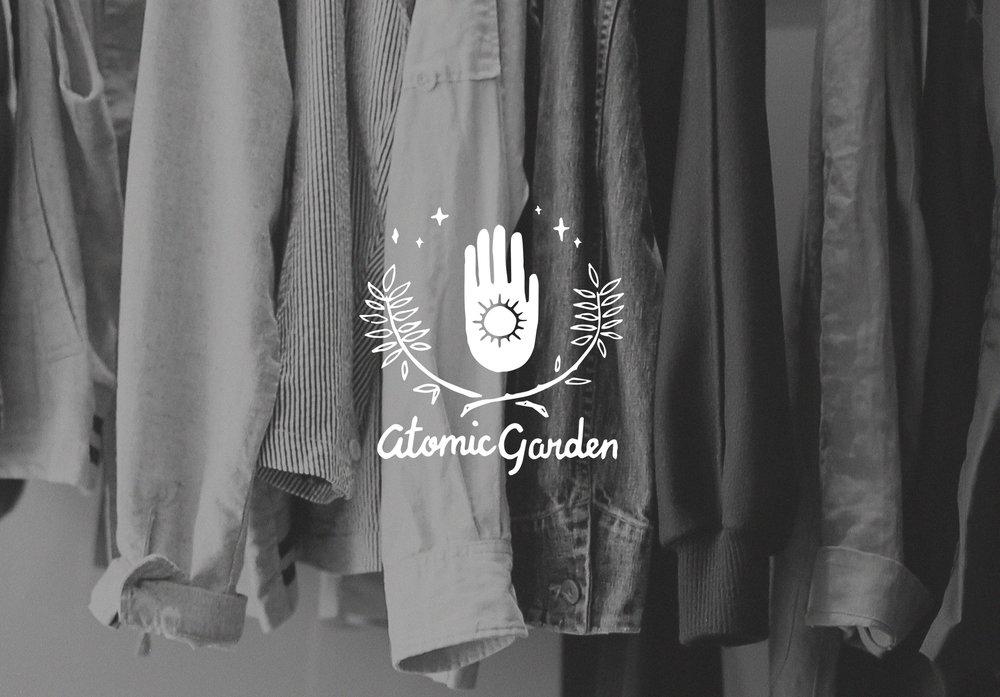 Hand-Lettered Logo for Atomic Garden