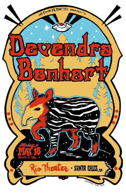 Concert Poster for Devendra Banhart