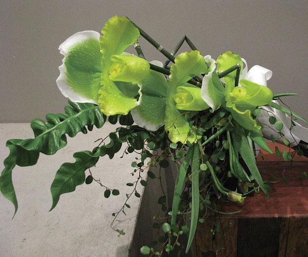 Lady Slipper orchids, angel vine, aspienium fern, and fritillaria.jpg