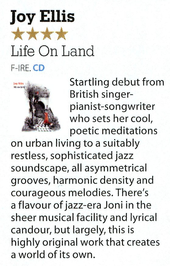 Joy Ellis Life on Land - review - Mojo Jan.2018.jpg