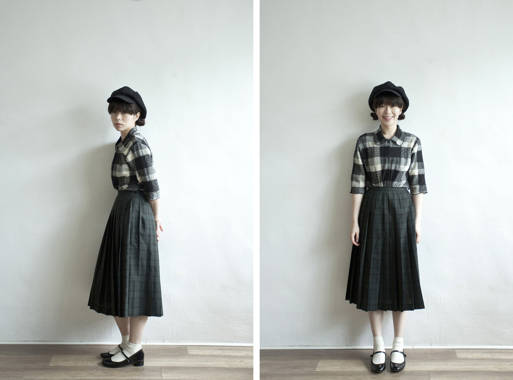 NBV4950 loris checkers pleats skirt   price: HK$278 / NT$1200   made in japan    也在賣 \\ 上衣 \ 帽子 \ 鞋子