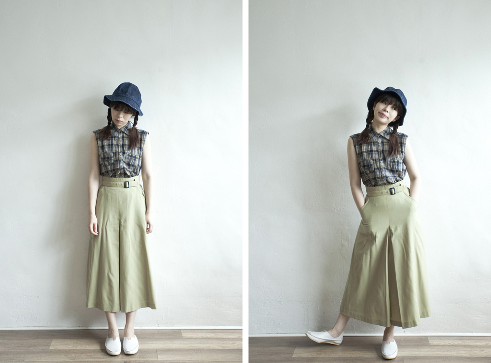 NBV5009 bassano pistachio green front slit high waist skirt (with belt)   price: HK$298 / NT$1280   made in japan    也在賣 \\ 上衣 \ 帽子 \ 鞋子