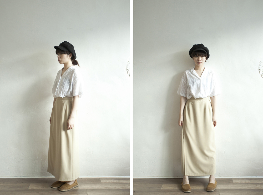 NBV4940 caravan beige flap h skirt   price: HK$228 / NT$980   made in japan    也在賣 \\ 上衣 \ 帽子