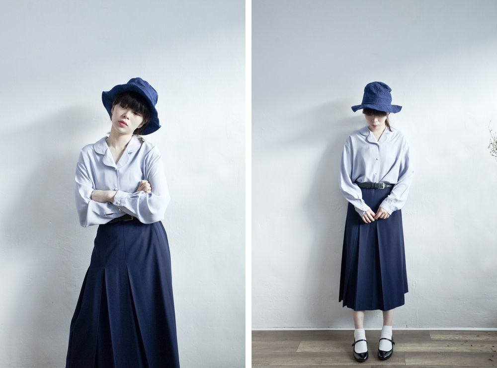 NBV4959 new yorker navy knife pleats skirt   price: HK$278 / NT$1200   made in japan    也在賣 \\ 上衣 \ 帽子 \ 鞋子