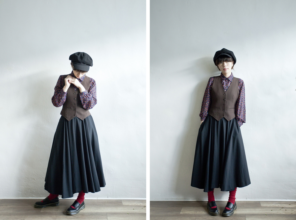 NBV4965 resmee black vintage round skirt   price: HK$298 / NT$1280   made in japan    也在賣 \\ 上衣 \ 帽子 \ 鞋子 \ 背心外套