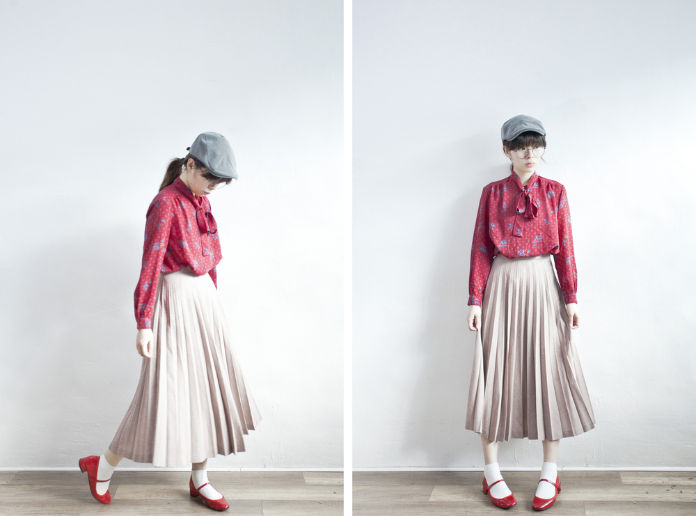 NBV4943 torrie plum pink full pleats skirt   price: HK$278 / NT$1200   made in japan    也在賣 \\ 上衣 \ 帽子 \ 鞋子