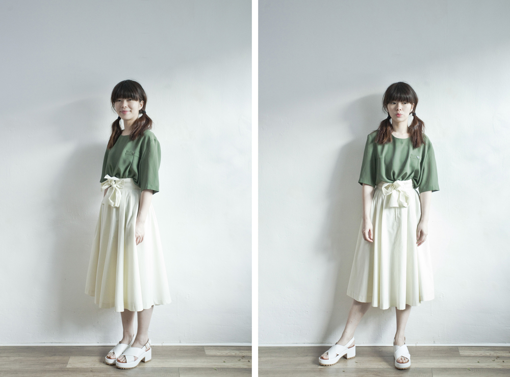 NBV4939 vilandry cream white hight waist ribbon skirt   price: HK$248 / NT$1070   made in japan    也在賣 \\ 上衣 \ 鞋子