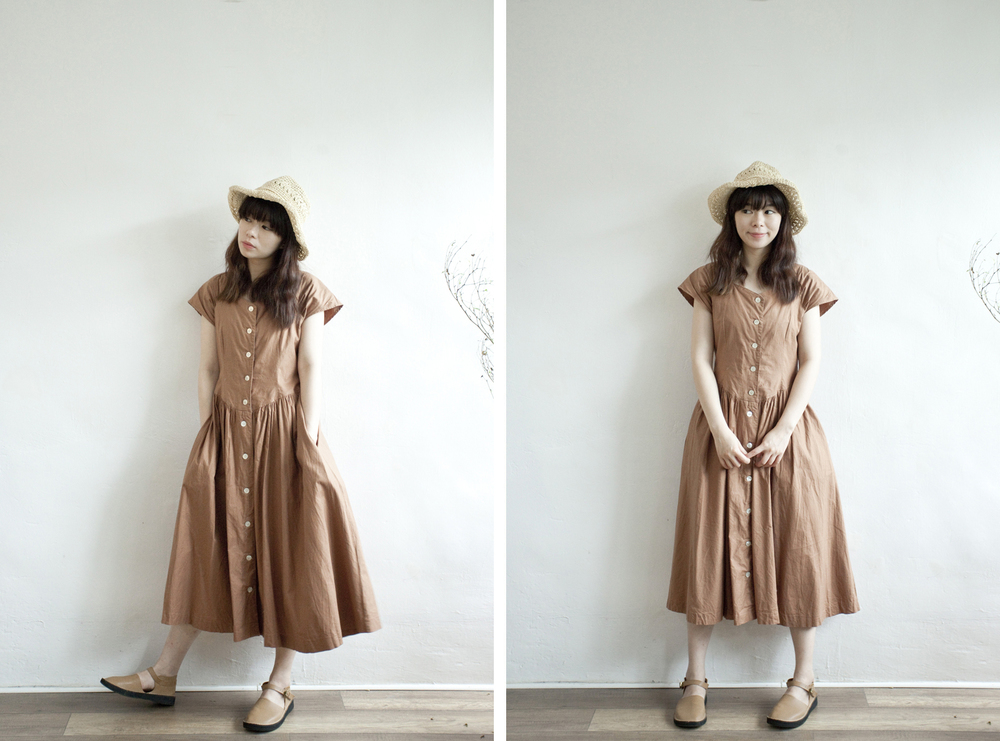 NBV4974 soyoma autumn brown belle dress   price: HK$268 / NT$1150   handpicked in korea    也在賣 \\ 帽子
