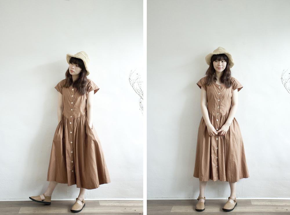 NBV4974 soyoma autumn brown belle dress   price: HK$268 / NT$1150   handpicked in korea    也在賣 \\ 帽子