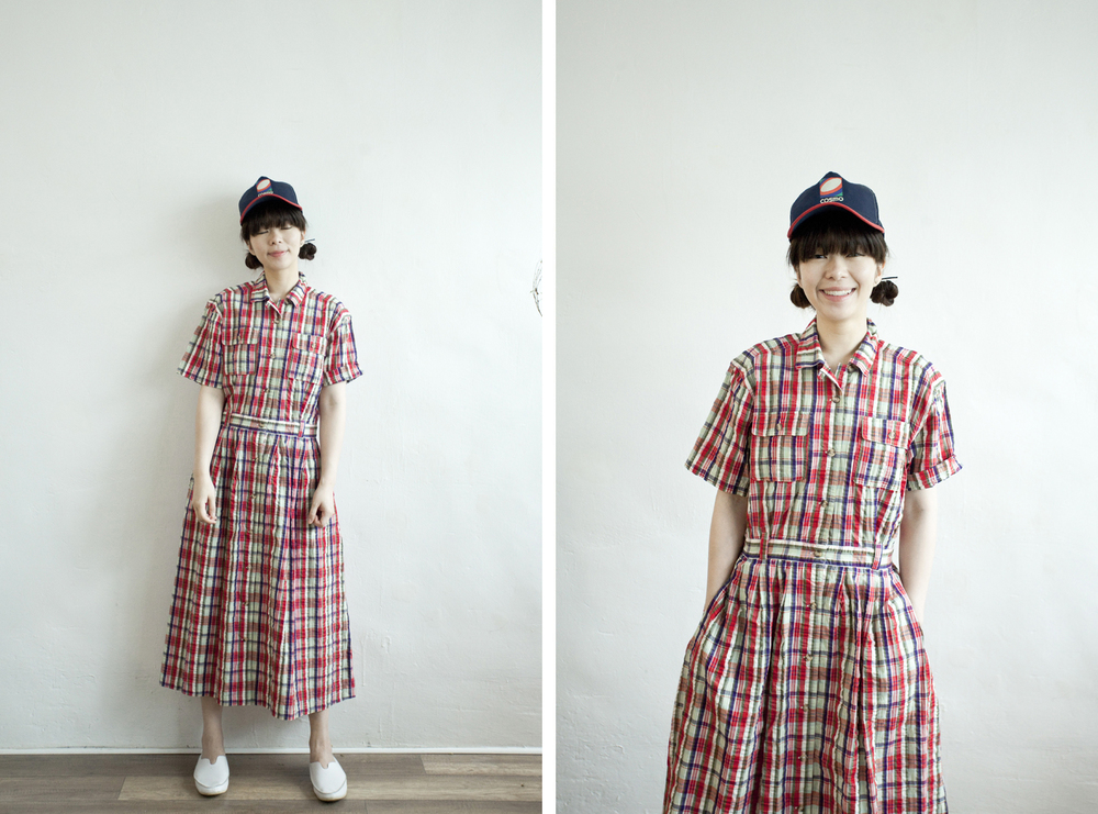NBV4975 galiea checks crepe cotton shirt dress   price: HK$278 / NT$1200   handpicked in korea    也在賣 \\ 鞋子