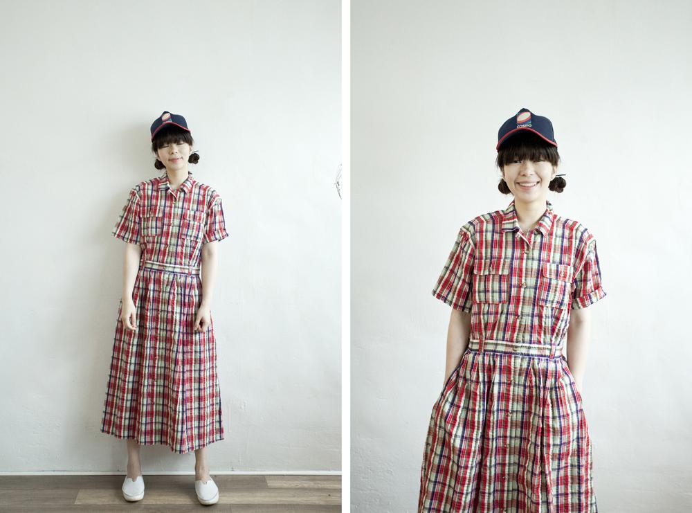 NBV4975 galiea checks crepe cotton shirt dress   price: HK$278 / NT$1200   handpicked in korea    也在賣 \\ 鞋子