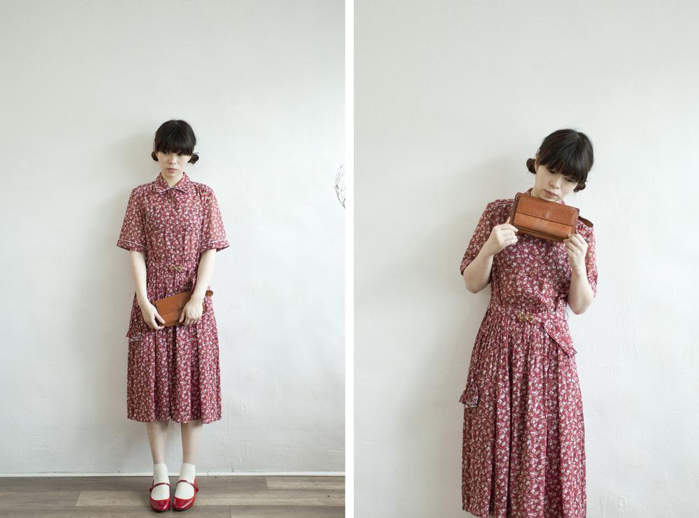 NBV4979 rosenda rose petal vintage dress   price: HK$298 / NT$1280   handpicked in korea    也在賣 \\ 帽子 \ 鞋子
