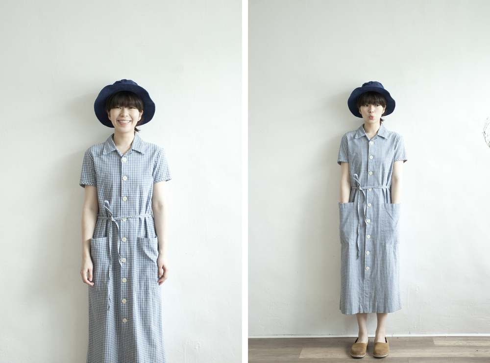 NBV4986 noel lily blue checks high waist shirt dress   price: HK$298 / NT$1280   handpicked in korea    也在賣 \\ 帽子 \ 鞋子