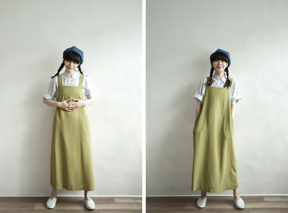 NBV4980 kirssa meadow green checks light pinafore dress price: HK$248 / NT$1070 handpicked in korea  也在賣 \\ 上衣 \ 帽子 \ 鞋子