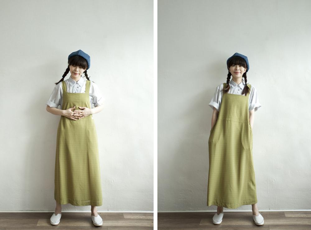NBV4980 kirssa meadow green checks light pinafore dress price: HK$248 / NT$1070 handpicked in korea  也在賣 \\ 上衣 \ 帽子 \ 鞋子