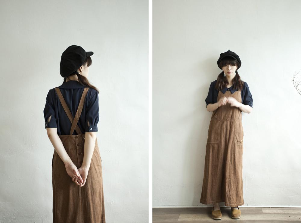 NBV4972 kitty blanc hazelnut brown pinafore dress   price: HK$268 / NT$1150   made in japan    也在賣 \\ 上衣 \ 帽子 \ 鞋子