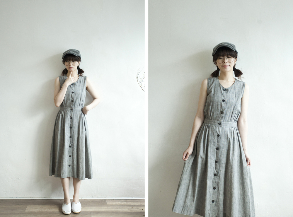 NBV4993 ceciline grey checks dress   price: HK$248 / NT$1070   handpicked in korea    也在賣 \\ 帽子 \ 鞋子
