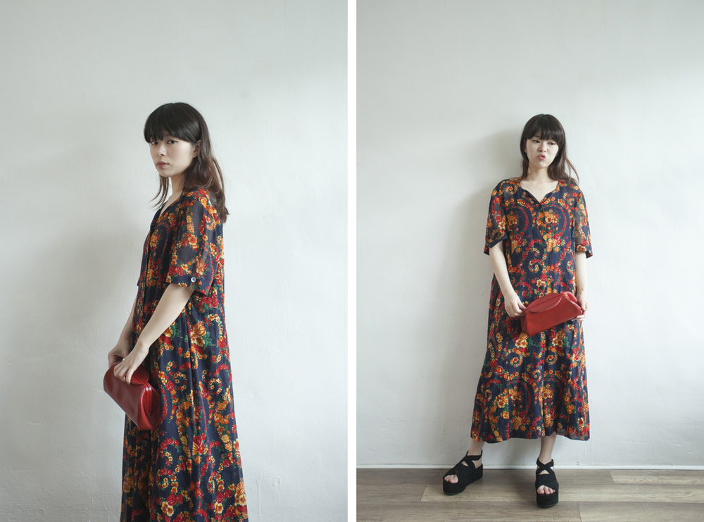 NBV5066 belle balard wild roses curve collar vintage dress price: HK$388 / NT$1670 made in japan  也在賣 \\ 鞋子