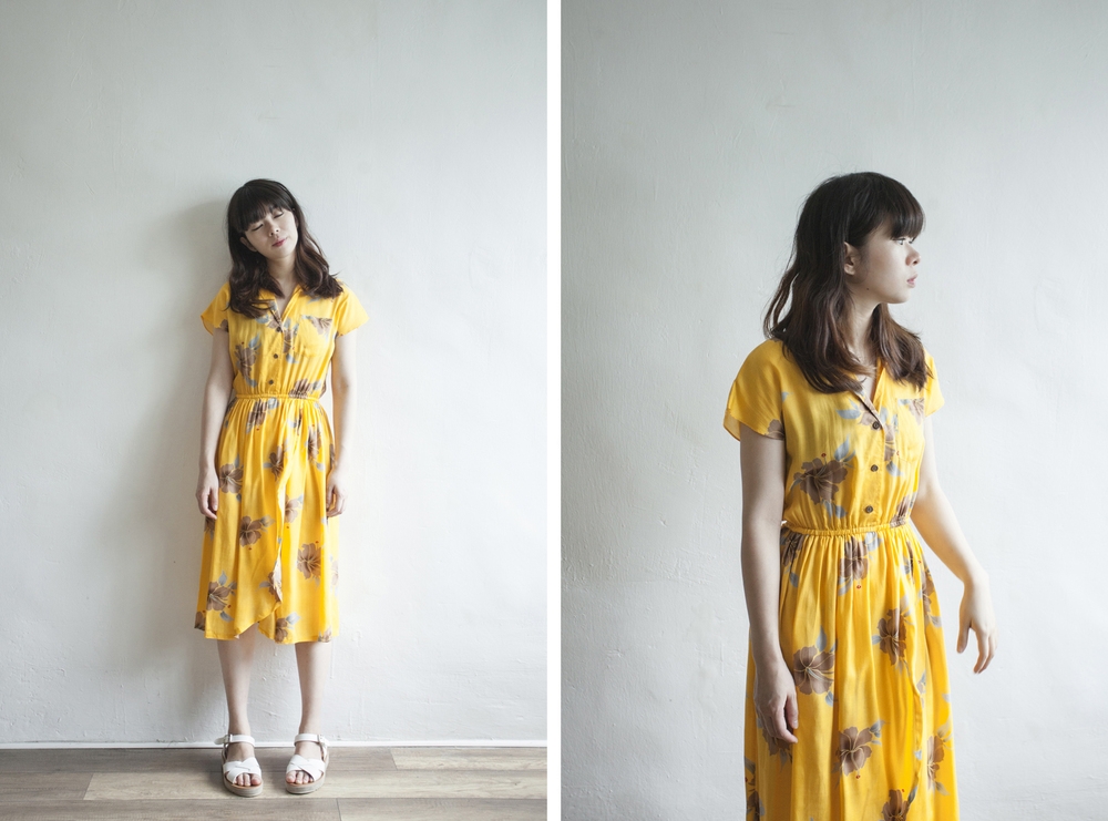 NBV5035 felise merigold yellow holiday dress price: HK$298 / NT$1280 made in japan  也在賣 \\ 鞋子