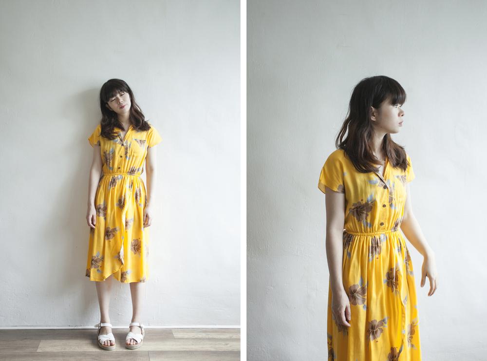 NBV5035 felise merigold yellow holiday dress price: HK$298 / NT$1280 made in japan  也在賣 \\ 鞋子