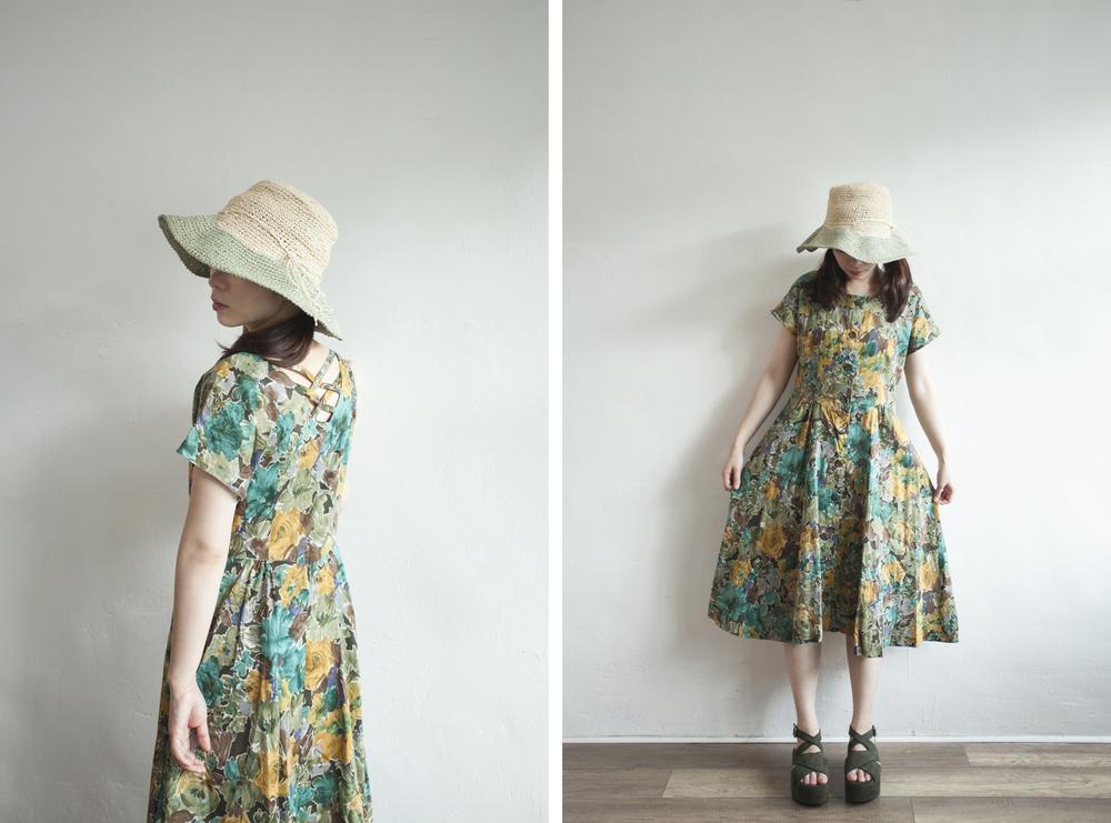 NBV5057 linda rose bushes cross back cotton dress price: HK$268 / NT$1150 handpicked in korea  也在賣 \\ 帽子 \ 鞋子