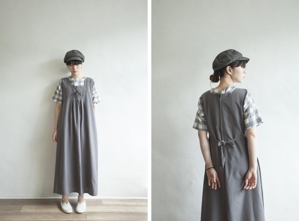 NBV4933 gianna square neck ribbon pleats dress price: HK$298 / NT$1280 handpicked in korea  也在賣 \\ 帽子 \ 鞋子