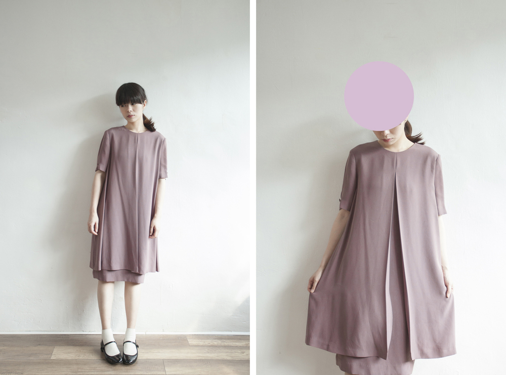 NBV5048 poignant purple front slit chiffon dress price: HK$328 / NT$1410 handpicked in korea  也在賣 \\ 鞋子