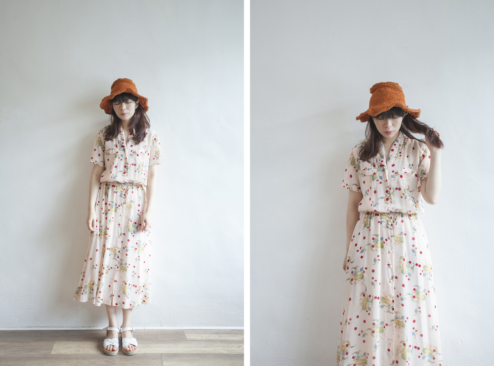 NBV5043 ingeborg cherry pond chiffon pink dress price: HK$368 / NT$1580 made in japan  也在賣 \\ 帽子 \ 鞋子