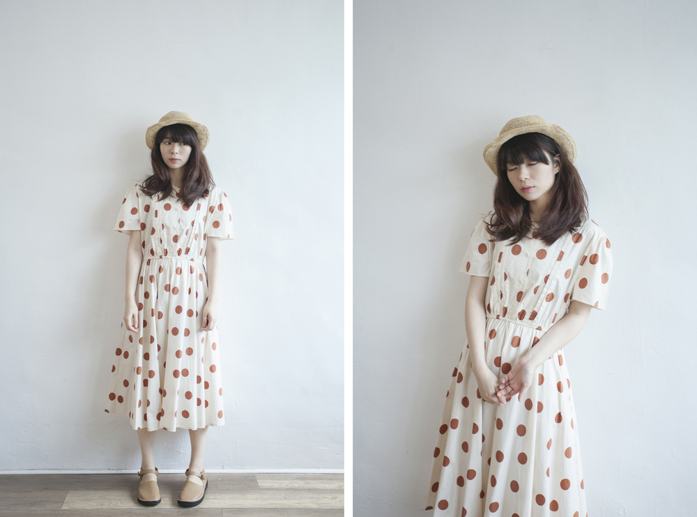 NBV5032 mode more polka cotton dress price: HK$298 / NT$1280 made in japan  也在賣 \\ 帽子