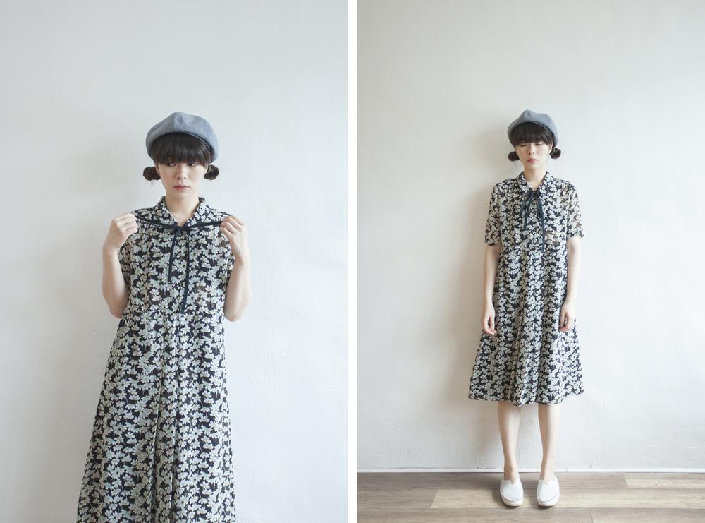 NBV5079 dandelion ribbon tied chiffon dress price: HK$298 / NT$1280 handpicked in korea  也在賣 \\ 鞋子