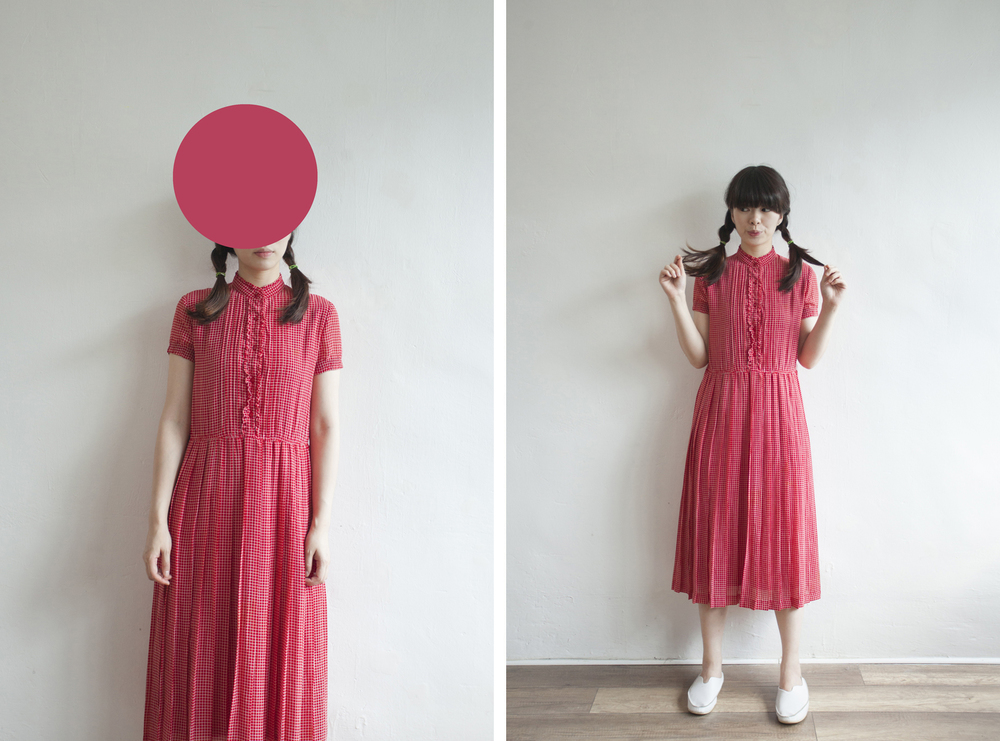 NBV5046 copan ruffle collar mini red bricks dress price: HK$298 / NT$1280 made in japan  也在賣 \\ 鞋子