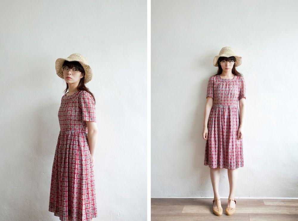 NBV5045 square collar butterfly blocks chiffon dress price: HK$278 / NT$1190 handpicked in korea  也在賣 \\ 帽子 \ 鞋子