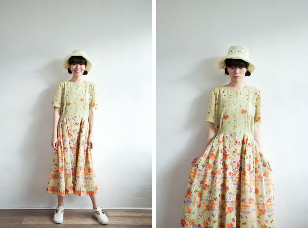 NBV5050 charlies entires country green floral dress price: HK$298 / NT$1280 handpicked in korea  也在賣 \\ 帽子