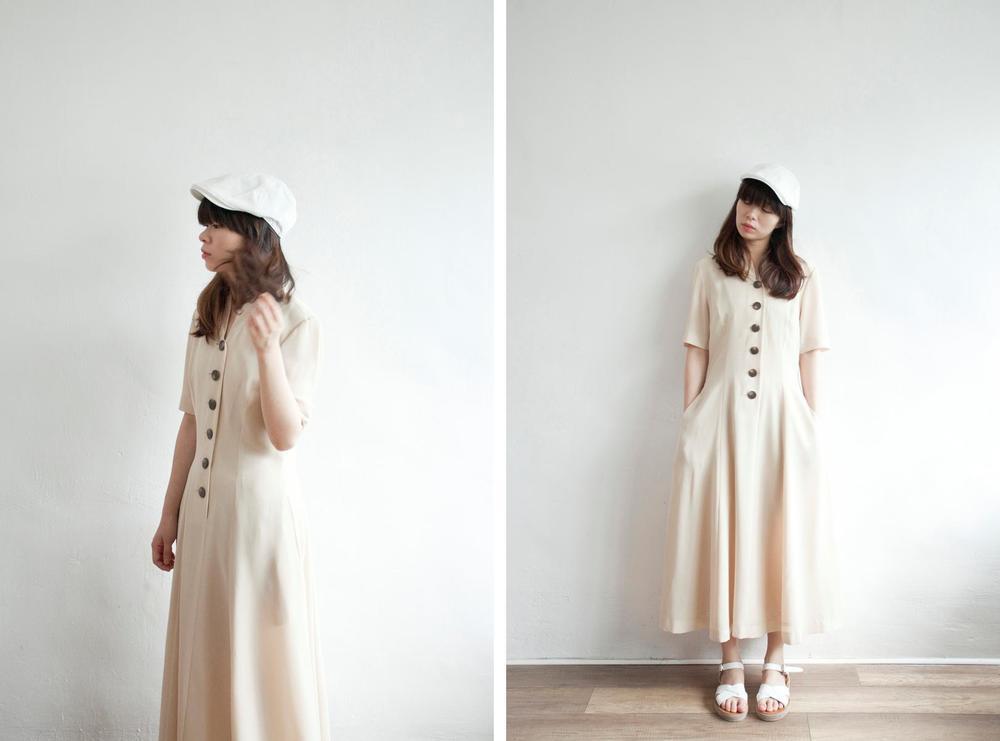 NBV5033 rakael beige madarin collar dress  price: HK$298 / NT$1280 made in japan  也在賣 \\ 帽子 \ 鞋子