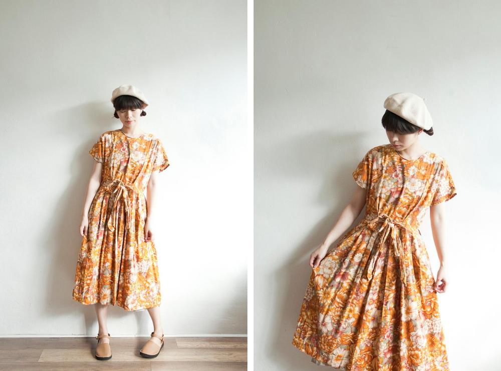 NBV5036 pennane wild floral ribbon tied cotton dress price: HK$278 / NT$1190 handpicked in korea  也在賣 \\ 帽子
