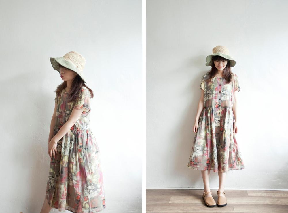 NBV5051 miser dreamy floral vintage dress price: HK$298 / NT$1280 made in japan  也在賣 \\ 帽子